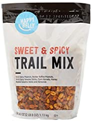 One 40-ounce stand-up, resealable bag Packaging might vary Mix includes hot & spicy peanuts, butter toffee peanuts, Cajun sesame sticks, toasted corn, honey sesame sticks and almonds Spicy Cajun-flavored mix with notes of sesame and honey Satisfactio...