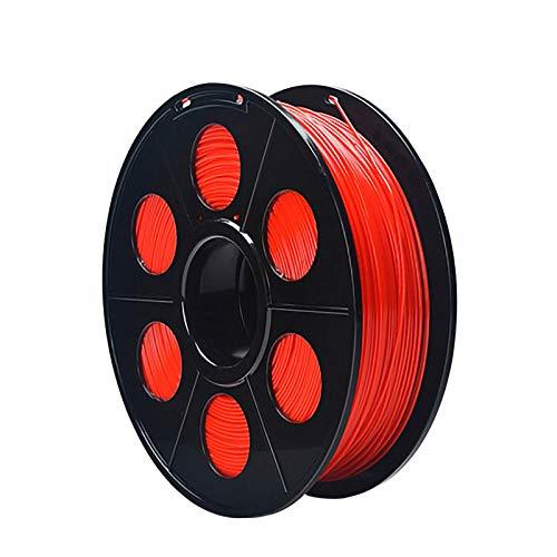 QDTDe 3D Pla Filamento Pluma Recargas 1,75 mm PrecisióN ± 0,02 100% Ninguna Burbuja De 1 kg 2,2 Libras Sin Olores Y FáCil De Pelar Filamento for La MayoríA De Impre(Color:Rojo)