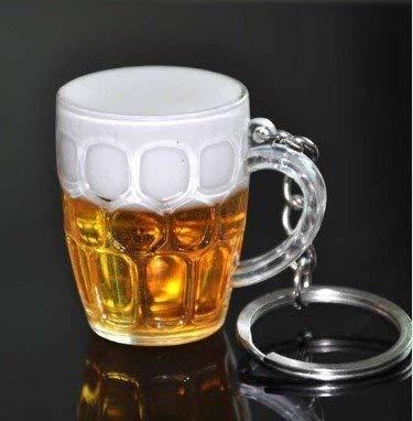 Bier glas sleutel hanger bier pils hanger met schuim kroon