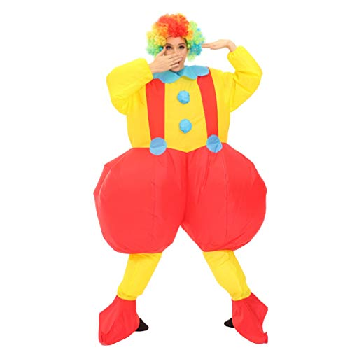 Halloween Inflatable Costume Funny Clown Costume Cosplay Party Blow Up Body Suit for Men Women