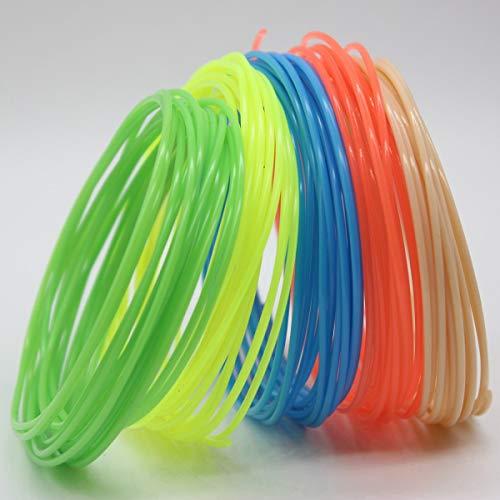 Nihlsfen 1 Stück langlebiges, hochfestes 3D-Filament PLA liefert 3D-Drucker-Filamentdruckmaterial für zufällige 3D-Druckerfarben