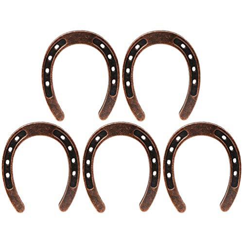 PRETYZOOM 5 piezas de herraduras de la suerte para colgar adornos de...