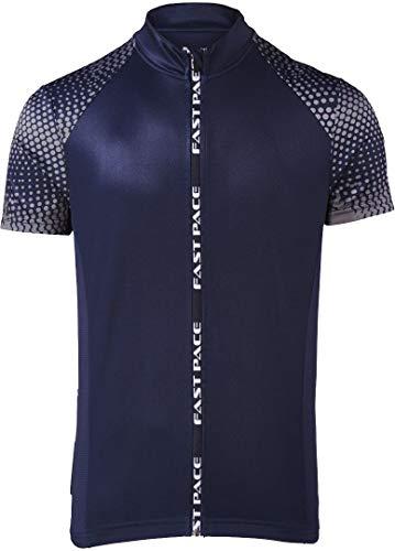Crivit Sports Herren Fahrradtrikot Radtrikot Radshirt Radlertrikot Fahrradshirt Radlershirt (M 48/50, Navy grau)