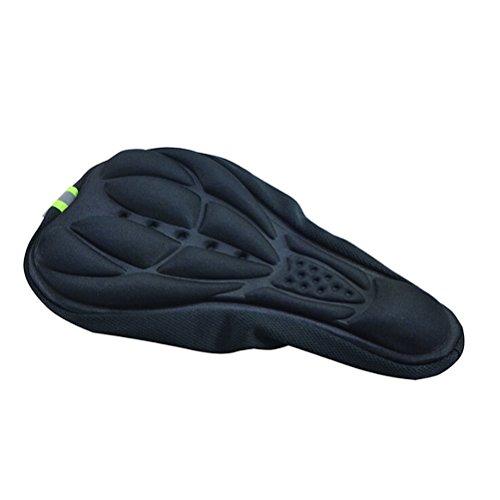 VORCOOL Bequeme Fahrrad Gel Pad Sitz Sattel Abdeckung 3D Weiches Kissen (Schwarz)