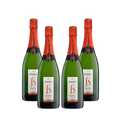 Vino blanco Beta Brut de 75 cl - D.O. Tierra de Cadiz - Bodegas Barbadillo (Pack de 4 botellas)