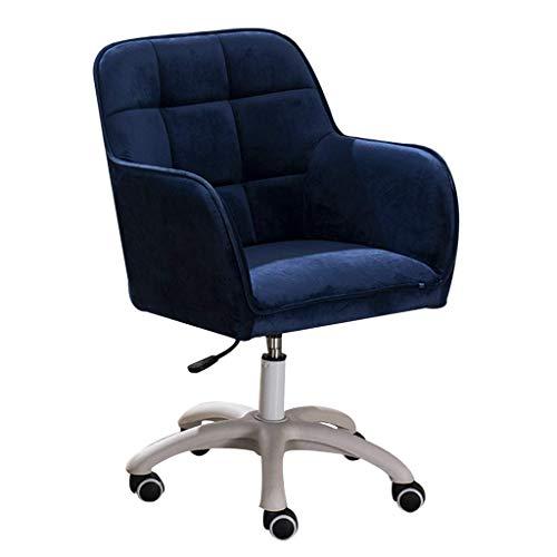 WSDSX Silla Gaming Barata,Sillón con cómoda Altura Ajustable Acolchada, Silla de Oficina Moderna con Respaldo Medio, Giro de 360 Grados, Azul Oscuro