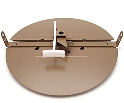 """BUTTERFLY DAMPER - Control Your Airflow on drop ceiling grilles of 24x24 (10"""" round duct opening)"""