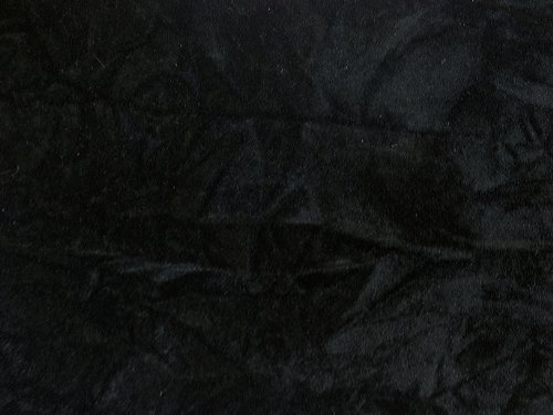 Crushed Upholstery Velvet Black 60 Inch by The Yard (F.E.
