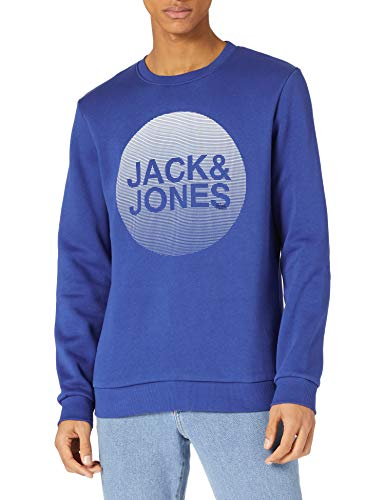 JACK & JONES Herren JCOROJAR Sweat CN FST Pullover, Galaxy Blue, L