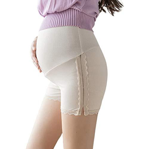 Pantalones De Seguridad para Mujeres Embarazadas, Bragas Y Leggings De Cintura Alta contra La Vergüenza De Verano, Pantalones Cortos De Encaje De Verano para Embarazadas