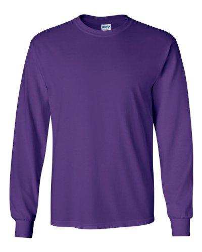 Gildan G240 Ultra Cotton 6 oz. Long-Sleeve T-Shirt - PURPLE - M