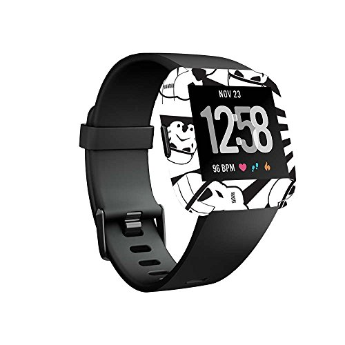MightySkins Skin Compatible with Fitbit Versa Smartwatch - Trooper Storm   Protective, Durable, and Unique Vinyl Decal wrap Cover   Easy to Apply, Remove, and Change Styles   Made in The USA