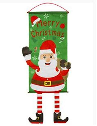 YMKCMC Decoración Navideña Decoraciones Navideñas para El Hogar Decoración De Puertas Adornos Colgantes Navideños Paño para Colgar Ventanas Regalos Navideños ProductosOliva