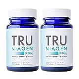 TRU NIAGEN NAD+ Booster for Cellular Repair & Energy Metabolism (Nicotinamide Riboside) - 300mg Vegetarian Capsules, 300mg Per Serving - 30 Day Bottle (2 Pack)