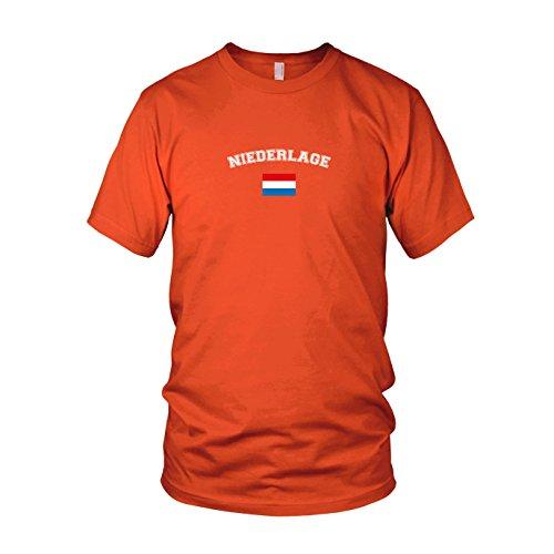 Oranje Niederlage - Herren T-Shirt, Größe: M, Farbe: orange