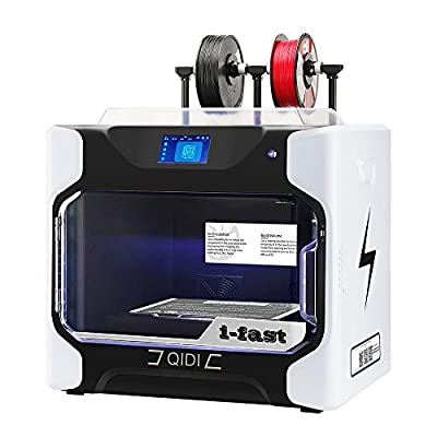 R QIDI TECHNOLOGY i Fast 3D Printer, Industrial Grade Structure, with Dual Extruder for Fast Printing, Super Large Print Size 360×250×320mm