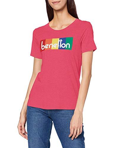 United Colors of Benetton (Z6ERJ T-Shirt Camiseta, Fuchsia Purple 02a, XL para Mujer