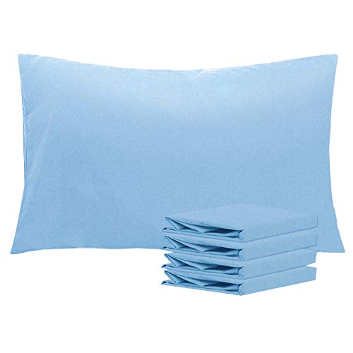 NTBAY Queen Pillowcases Set of 4, 100% Brushed Microfiber, Soft and Cozy, Wrinkle, Fade, Stain Resistant with Envelope Closure, 20