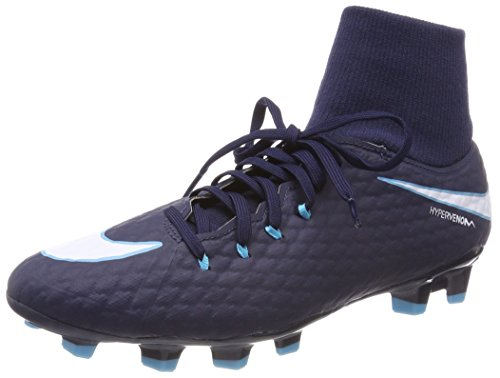 Nike Hypervenom Phelon 3 DF FG, Scarpe da Calcio Uomo, Blu (Obsidienne/Bleu Gamma/Bleu Bleu Glacier/Blanc), 41 EU