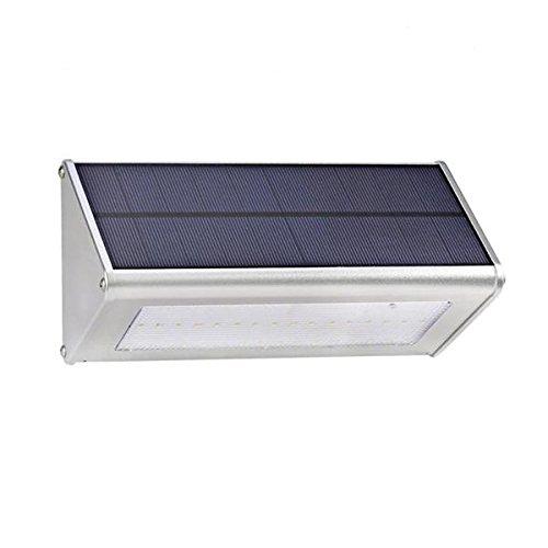 Bazaar Applique murale solaire 48 LED avec détecteur de mouvement en alliage d'aluminium étanche