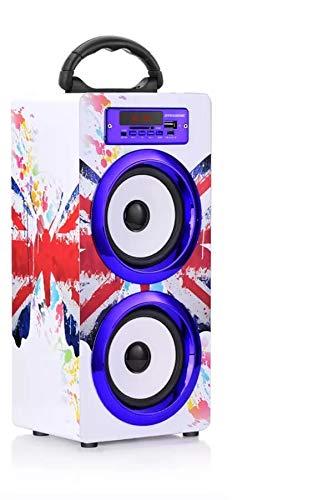 DYNASONIC - Altavoz Bluetooth Portátil 10W | Reproductor mp3 Inalámbrico Portátil, Lector USB SD, Radio FM - Modelo 022-2 (Londres)