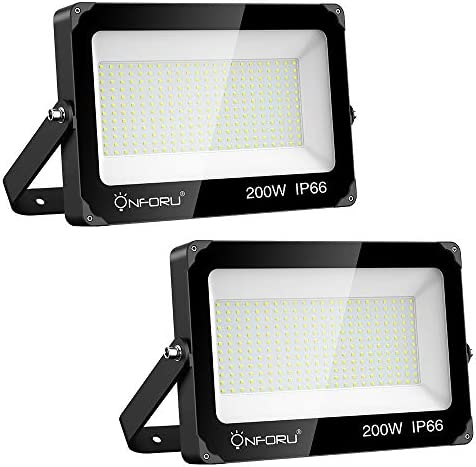Onforu 2 Pack 200W LED Flood Light 22000lm Super Bright Security Lights IP66 Waterproof Outdoor product image