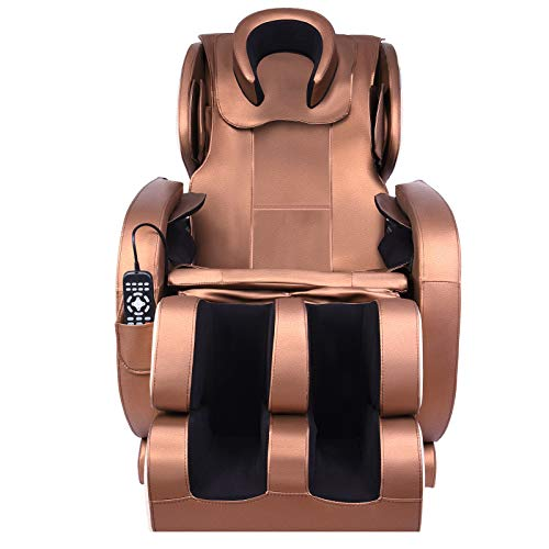 Massage Chair Full Body Electric Zero Gravity Shiatsu Recliner with Bluetooth Heat and Foot Roller...