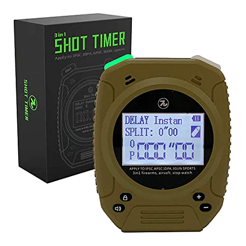 Shot Timer - 3 in 1 Shot Timer for Firearms Airsoft Stop Watch Perfect for Pistols Rifle Dry Fire in USPSA, IPSC, APSC, IDPA, 3 Gun, Steel Challenge (Gray) (Shot Timer Gray)