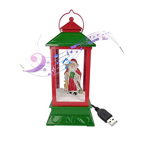 Linterna de Nieve Musical de Navidad Enchufe USB en Leds de batería LED Luces de Hadas Lámpara Papá Noel en Forma de iluminación Colgante (Color: c) DSB (Color : E)