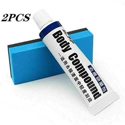 GHSY 2 Stück Premium Car Scratch Removal Kit, Karosserielackpflege Autoreparatur-Kits Entfernen Sie leichte Kratzer Polieren von Schleifpasten, Pasten und Schwamm