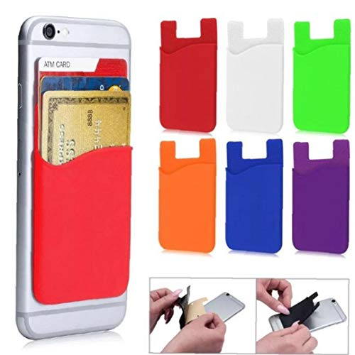 Silikon-kartenhalter Selbstklebender Telefon-abdeckung Slim Case Aufkleber Bank Card-schutz-2pcs