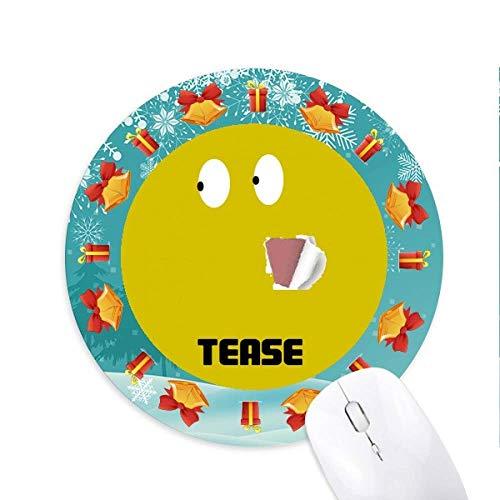 Yellow Naughty Emotion Lol Tease Mousepad Rund Gummi Maus Pad Weihnachtsgeschenk