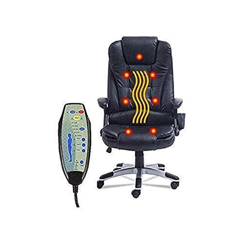 Schreibtisch Leder Gaming Bürostuhl Ergonomischer PU-Leder Executive Bürostuhl Drehbarer Gaming-Massagestuhl Vibrierender 7-Punkt