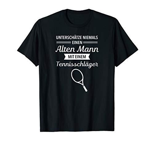 Alter Mann Mit Tennisschläger - Tennis Lehrer Tennisspieler T-Shirt