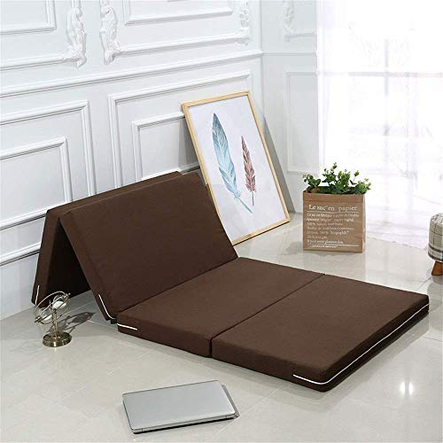 Lqfcjnb Folding Mattress Folding Mattress Space Saving Futon Sofa Bed For Guests Or Floor Mat Travel Bed Mattress Easy Storage Without Occupying Space (Color : Dark Brown, Size : 60x190x5cm)