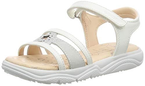 Geox J Sandal DEAPHNE Gir, Bianco, 36 EU