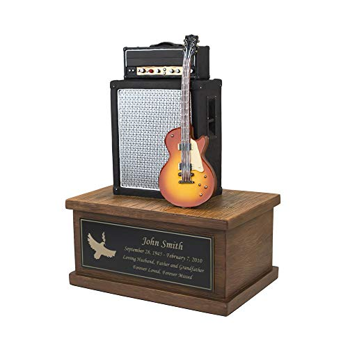 Custom Engraved Small Electric Guitar Cremation Urn