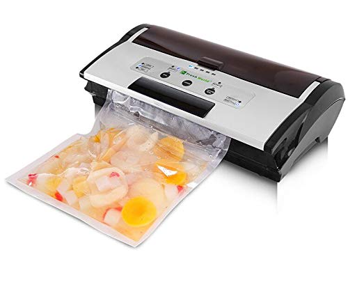 Fresh World FW-3150 Commercial Automatic Vacuum Sealer with Built-in Roll Storage, Cutter with starter Bags and Roll