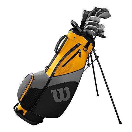WILSON Ultra Herren Komplettes Golfschläger Set & Stand Tasche 2019 Golf Komplettset Eisen Hölzer Driver Bag Verschiedene Ausführungen LINKSHAND/Standardlänge Mit Stahlschaft