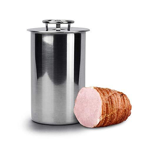 Browin 313015 Schinkenkocher Druckschinkenkocher, Kocher, Schinkernpresse, Pastetenkocher, Druckkochtopf (für 1,5kg Fleisch), Edelstahl, Stahl, für 1.5kg