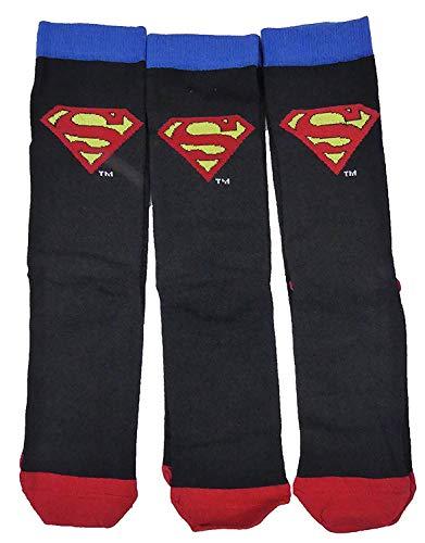Character Socks Herren Dreier Packung Great Auswahl Styles - Superman, 9-11 Herren Schuhgröße