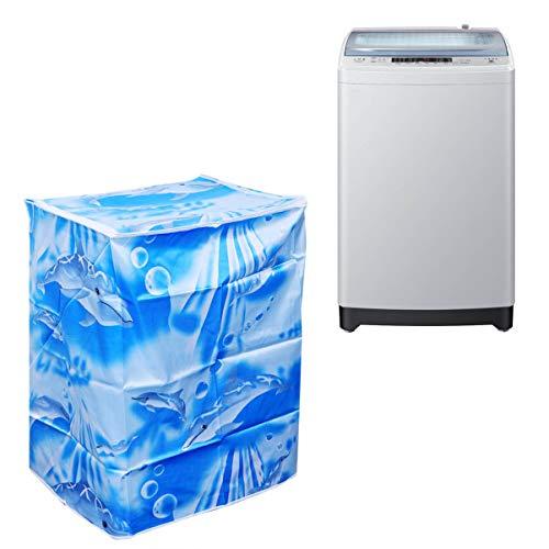 LIOOBO Tasche für Waschmaschine, Oberladung und automatische Trockner, Staubdicht, wasserdicht, mit Reißverschluss, 55 x 58 x 87 cm, goldfarben