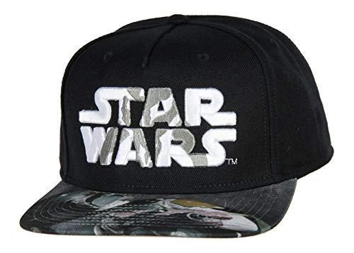Star Wars Mandalorian Embroidered Adjustable Adult Snapback Hat Baseball Cap Black