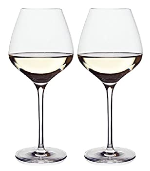 The One Wine Glass - Perfectly Designed Shaped Wine Glasses For All White Wines By Master Sommelier Andrea Robinson Premium Set Of 2 Lead Free Crystal Glasses Break Resistant White Wine Glasses