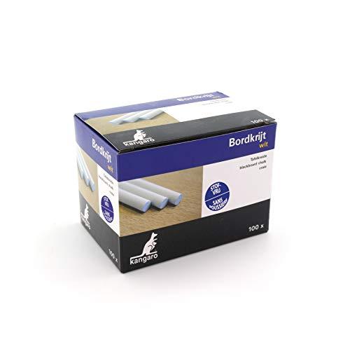 Tafelkreide Kangaro weiss Box 100St, PT005, Weiß