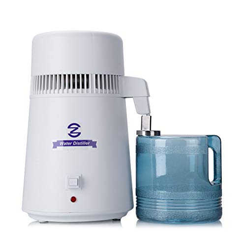 CO-Z 110V 4 Liter Water Distiller, Distilling Pure Water Machine for Home Countertop Table Desktop, 4L Distilled Water Making Machine, FDA Approved Water Purifier to Make Clean Water for Home Use