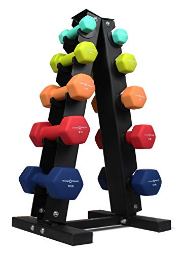 Fitness Republic Hanteln aus Neopren (0,9 kg, 1,8 kg, 2,7 kg, 3,6 kg, 4,5 kg) mit 5 Ebenen