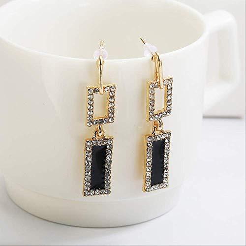 Oorbel bengelen ontwerp geometrie Drop Oorbellen voor vrouwen Rechthoek oorbellen voor vrouwen Wedding Jewelry GiftBLACK