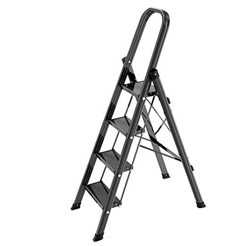 LRZLZY 3-Step / 4-Step-Leiter aus Aluminium, Heavy Duty Faltschritts Hocker, Küche mit Stehleitern rutschsichere Stufen, Haushaltsmehrzweckleiter (Size : 4-Step)