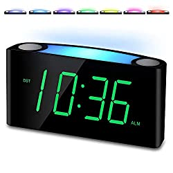 Alarm Clocks,Large LED Display Digital Clock with Night Light,USB Phone Charger,Dimmer,Snooze, Battery Backup,Plug-in Loud Bedroom Clock for Heavy Sleepers,Easy to Set for Kids Seniors Teens Boy